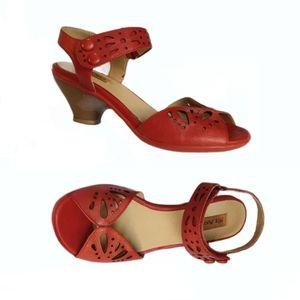 Sz37🌹Miz Mooz Leather Red Sandals